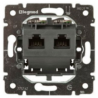 Механизм розетки PJ45 2-я 5-3МГц UTP 8 контактов Legrand Galea Life 775762