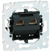 Механизм розетки телефонная 2-я RJ11 4 контакта Legrand Galea Life 775939