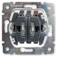 Механизм выключателя 2-клавишного с подсветкой Legrand Galea Life 775825