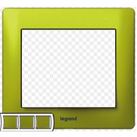 Рамка 3 поста magic green  Legrand Galea Life 771923