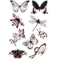 Набор силиконовых штампов Бабочки-жучки