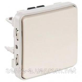 Проходной выключатель 1-клавишный IP55 IK07 белый 69611 Legrand Plexo