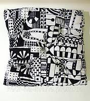 Подушка на стул Black & White (подушка сидушка для стулья, кресла, табурет)