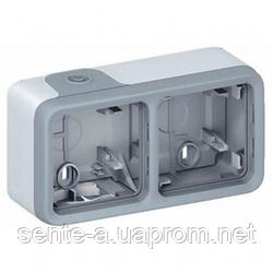 Коробка для накладного монтажа горизонтальная серая 69672 IP65 IK07 Legrand Plexo