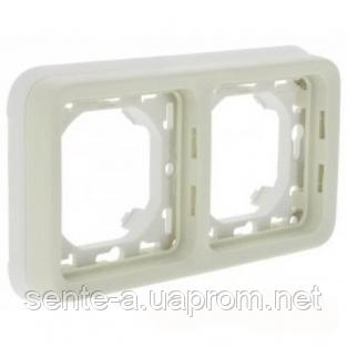 Суппорт с рамкой для встроенного монтажа горизонтальный белый 69694 IP65 IK07 Legrand Plexo