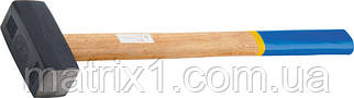 Кувалда, 3000 г, кованая головка, деревянная рукоятка// СИБРТЕХ