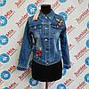 Джинсовый пиджак на девочку подростка GRACE