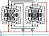 Механизм проходного 2-клавишного переключателя с подсветкой слоновая кость 774112 Legrand Valena, фото 3