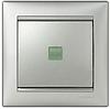 Механизм проходного 1-клавишного переключателя с подсветкой алюминий 770126 Legrand Valena, фото 2