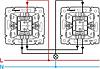 Механизм проходного 1-клавишного переключателя с подсветкой алюминий 770126 Legrand Valena, фото 3