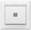 Механизм проходного 1-клавишного переключателя с подсветкой белый 774426 Legrand Valena, фото 2