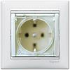 Механизм розетки (2К+3) со шторками и крышкой IP44 белый 774220 Legrand Valena, фото 2