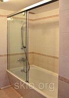 Стеклянные шторки в ванну, стекло в ванную комнату., фото 1