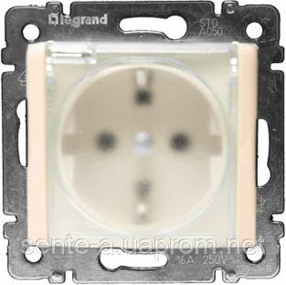 Механизм розетки (2К+3) со шторками и крышкой IP44 слоновая кость 774120 Legrand Valena