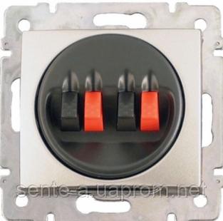 Механизм розетки акустической двойной алюминий 770124 Legrand Valena