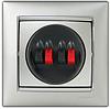 Механизм розетки акустической двойной алюминий 770124 Legrand Valena, фото 2