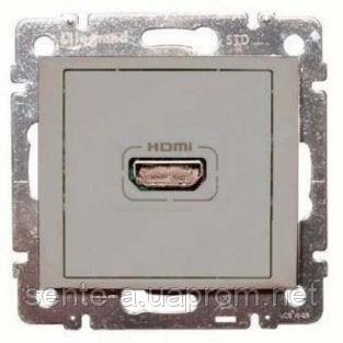 Механизм розетки HDMI алюминий 770285 Legrand Valena