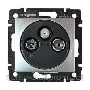 Механизм розетки TV-FM-SAT простой 2400МГц 14dB алюминий 770135 Legrand Valena