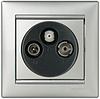 Механизм розетки TV-FM-SAT простой 2400МГц 14dB алюминий 770135 Legrand Valena, фото 2