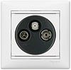 Механизм розетки TV-FM-SAT конечной 2400МГц 14dB белый 774436 Legrand Valena, фото 2