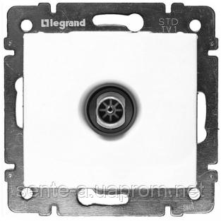 Механизм розетки TV проходной 2400МГц 14dB белый 774431 Legrand Valena