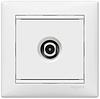 Механизм розетки TV проходной 2400МГц 14dB белый 774431 Legrand Valena, фото 2