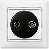 Механизм розетки TV+R конечной 862МГц 14dB белый 774433 Legrand Valena, фото 2