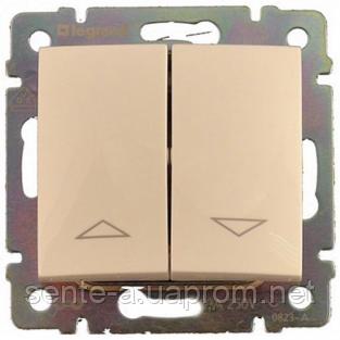 Механизм управления жалюзи 2-клавишного с электронной блокировкой слоновая кость 774314 Legrand Valena
