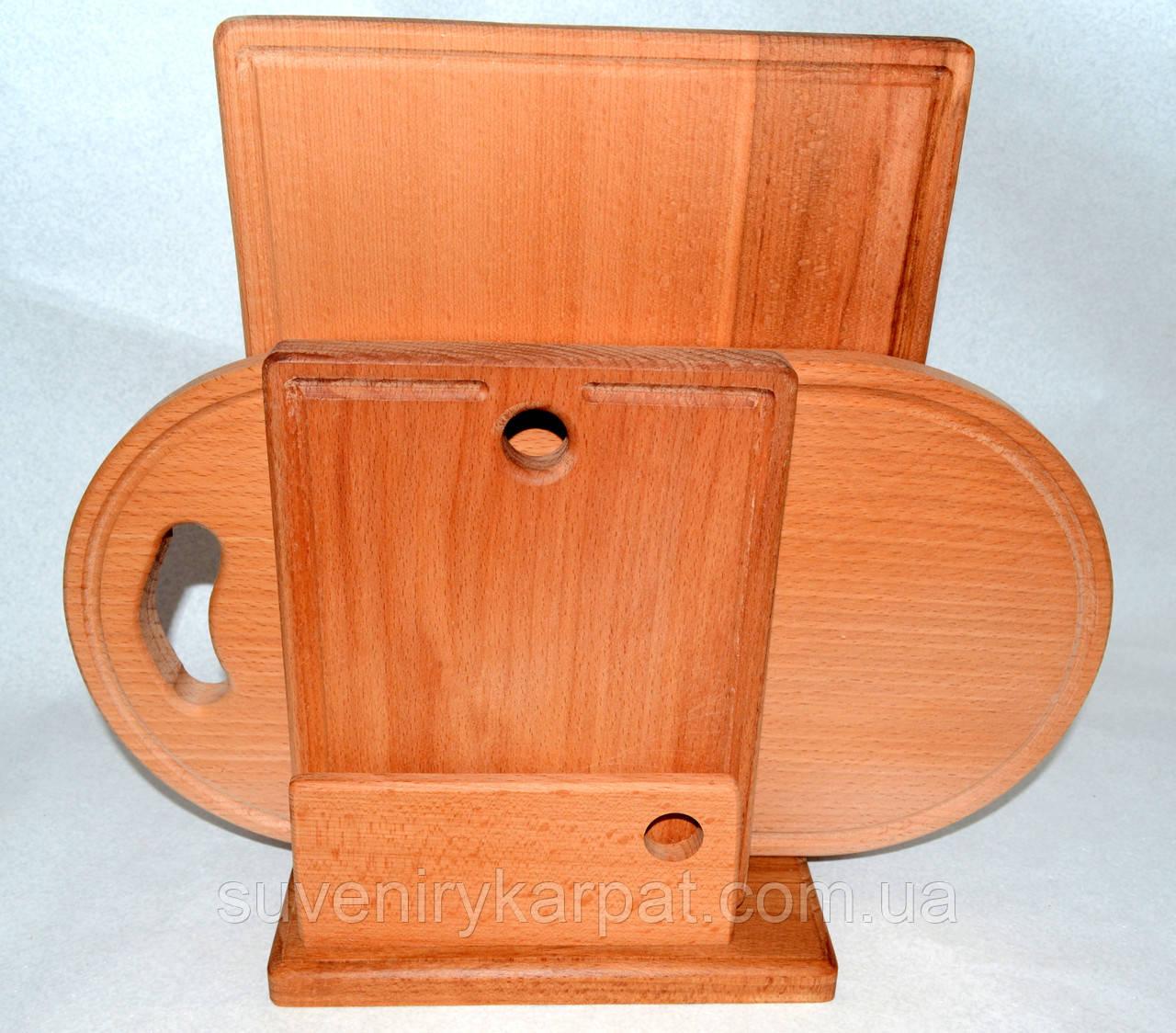 Набор разделочных деревянных досок в подставке купить