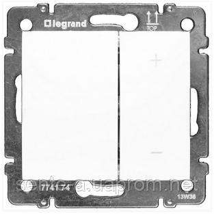 Механизм светорегулятора нажимного 60-600Вт белый 770074 Legrand Valena