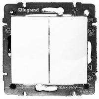 Механизм выключателя 2-клавишного белый 774405 Legrand Valena