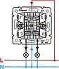 Механизм выключателя 2-клавишного с подсветкой алюминий 770128 Legrand Valena, фото 3