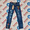 Джинсы с вышивкой для девочки подростка GRACE