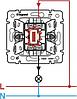 Механизм выключателя 1-клавишного с подсветкой алюминий 770110 Legrand Valena, фото 3