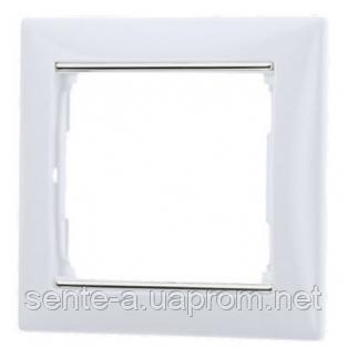 Рамка 1 пост белый/серебряный штрих Legrand Valena 770491