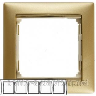 Рамка 5 постов матовое золото Legrand Valena 770305