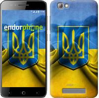 """Чехол на ZTE A610 Флаг и герб Украины 1 """"375u-433"""""""