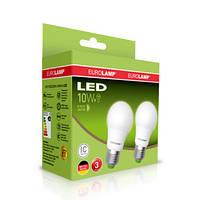 """Промо-набор EUROLAMP LED Лампа A60 10W E27 3000K акция """"1 + 1"""""""