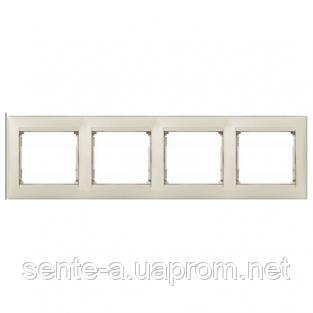Рамка 4 поста жемчужный Legrand Valena 770484