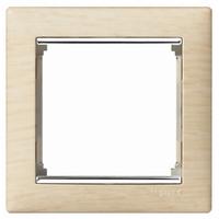 Рамка 1 пост светлое дерево/серебряный штрих Legrand Valena 770381