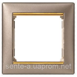 Рамка 1 пост титан/золотой штрих Legrand Valena 770361