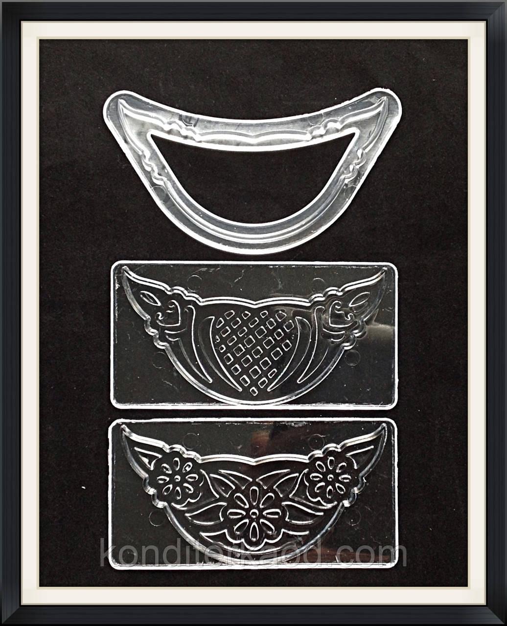 Штампы декоративные Цветочные для мастики