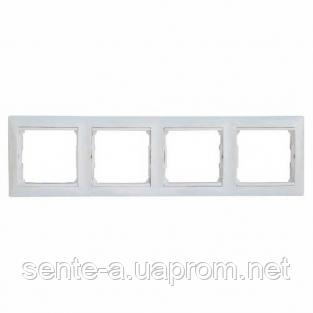 Рамка 4 поста белый Legrand Valena 774454