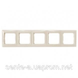 Рамка 5 постов слоновая кость Legrand Valena 774355