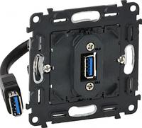 Механизм розетки USB 3.0 для зарядки IN'MATIC 753082 Legrand Valena