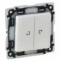Механизм переключателя 2-клавишного 10A с подсветкой 0,15мА IP44 белый 752159 Legrand Valena Life
