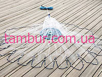 Кастинговая сеть парашют из (лески) американского типа с большим кольцом