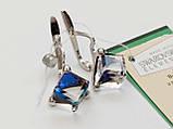 Серебряные серьги с кристаллом Сваровски , фото 2