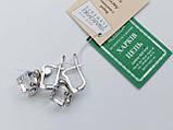 Серебряные серьги с кристаллом Сваровски , фото 4