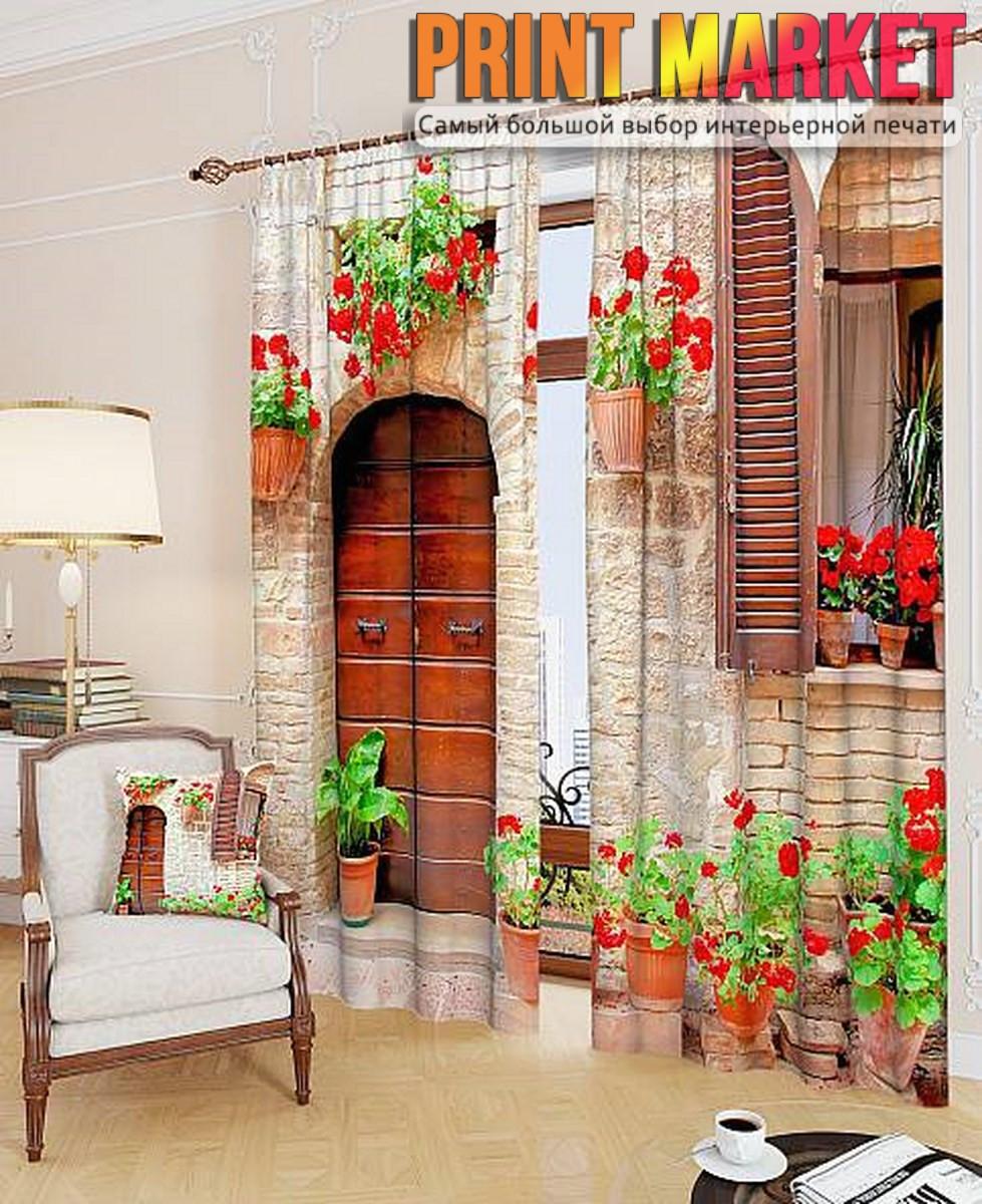 Фотошторы уютный дом в цветах